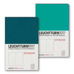 Leuchtturm1917 Leuchtturm1917 Jottbook Double A6 Pocket Flexcover Emerald & Pacific Green Plain