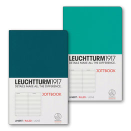 Leuchtturm1917 Leuchtturm1917 Jottbook Double A6 Pocket Flexcover Emerald & Pacific Green Ruled