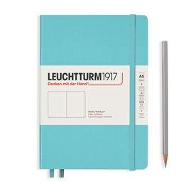 Leuchtturm1917 Leuchtturm1917 A5 Medium Rising Colors Hardcover Notebook Aquamarine Plain