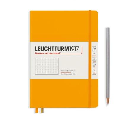 Leuchtturm1917 Leuchtturm1917 A5 Medium Rising Colors Hardcover Notebook Rising Sun Dotted
