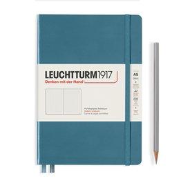Leuchtturm1917 Leuchtturm1917 A5 Medium Rising Colors Hardcover Notebook Stone Blue Dotted
