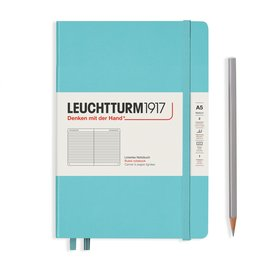 Leuchtturm1917 Leuchtturm1917 A5 Medium Rising Colors Hardcover Notebook Aquamarine Ruled