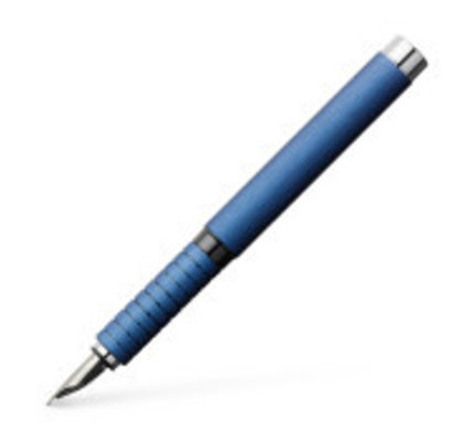 Faber-Castell Faber-Castell Design Essentio Blue Aluminum Fountain Pen