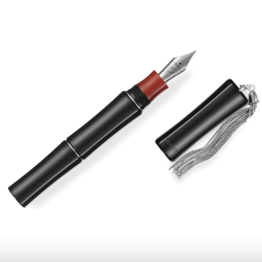 Tibaldi Perfecta Rich Black with Rubber Clip Fountain Pen