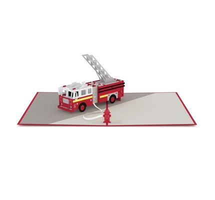 Lovepop Lovepop Fire Truck 3D Card