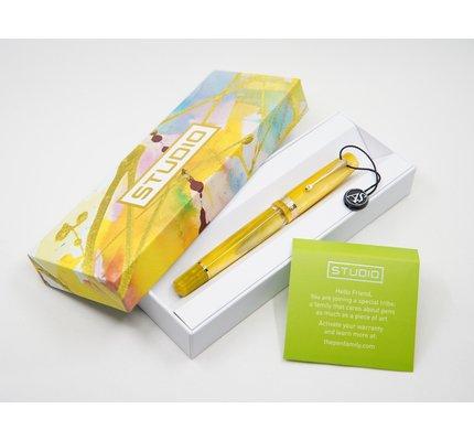 Armando Simoni ASC Studio Pinnacle Yellow with Rhodium Trim Fountain Pen