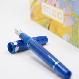 Armando Simoni ASC Studio Pinnacle Blue with Rhodium Trim Fountain Pen