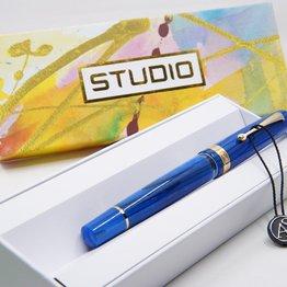Armando Simoni ASC Studio Pinnacle Blue with Gold Trim Fountain Pen