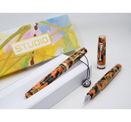 Armando Simoni ASC Studio Arlecchino with Gold Trim Fountain Pen