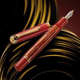 Pelikan Pelikan Special Edition Souveran 600 Tortoiseshell Red Fountain Pen