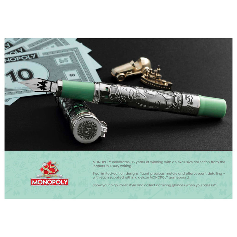 Montegrappa Montegrappa Limited Edition 85th Anniversary Mr. Monopoly Green and Silver Fountain Pen
