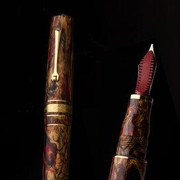 Leonardo Leonardo Momento Zero Grande Golden Rule Fountain Pen