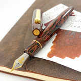 Sailor Sailor Limited Edition Kouen Red Flame Naginata-Togi Ebonite Bi-Color Fountain Pen