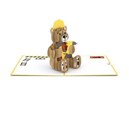 Lovepop Lovepop Construction Bear 3D Card