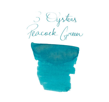 3 Oysters 3 Oysters Delicious Peacock Green Bottled Ink - 38ml