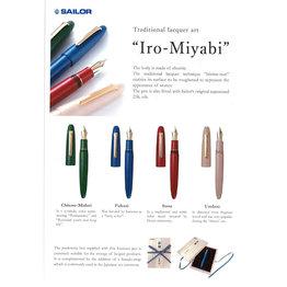 Sailor Sailor Bespoke King of Pen Ebonite Iro-Miyabi  Fukaai Fountain Pen