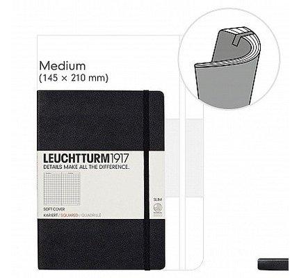 Leuchtturm1917 Leuchtturm1917 Medium (A5) Softcover Black Notebook