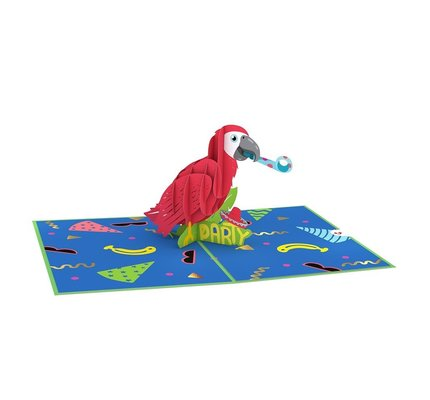 Lovepop Lovepop  Party Parrot Greeting Card