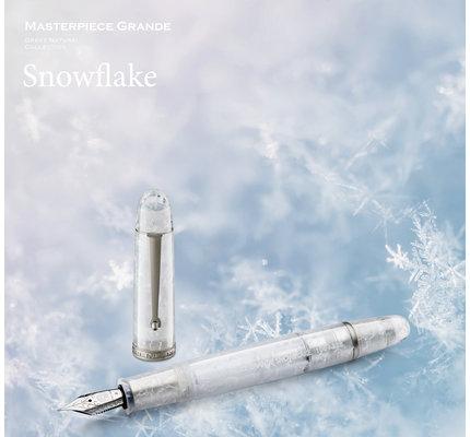 Penlux Penlux Limited Edition Masterpiece Grande Snowflake 14K Gold Nib Fountain Pen