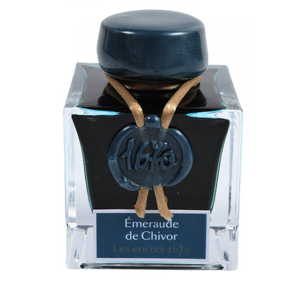 """J. Herbin J. Herbin """"1670"""" Emeraude de Chivor (Emerald of Chivor) -  50ml Bottled Ink"""