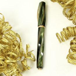 Visconti Pre-Owned Visconti Divina Elegance Green Oversize Fountain Pen Fine