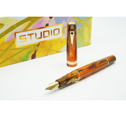 Armando Simoni ASC Studio Brown Antelope with Gold Trim Fountain Pen