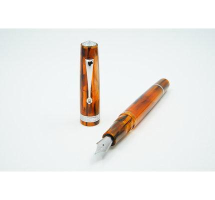 Armando Simoni ASC Studio Brown Antelope with Rhodium Trim Fountain Pen