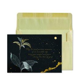 NIQUEA.D NIQUEA.D Fine Art Black with Gold Sympathy Card
