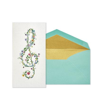 NIQUEA.D NIQUEA.D Music Clef Blank Card