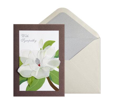 NIQUEA.D NIQUEA.D Magnolia in Vellum Sympathy Card