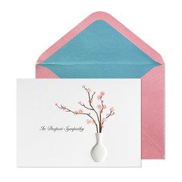 NIQUEA.D NIQUEA.D Pink Blossom with Vase Sympathy Card