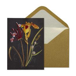 NIQUEA.D NIQUEA.D Embroidered Flowers Sympathy Card