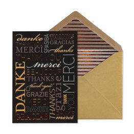 NIQUEA.D NIQUEA.D Multi Language Thank You Card
