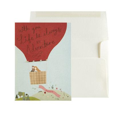 NIQUEA.D NIQUEA.D Hot Air Balloon Anniversary Card