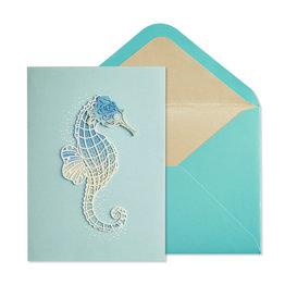 NIQUEA.D NIQUEA.D Seahorse Blank Card