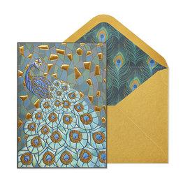 NIQUEA.D NIQUEA.D Mosaic Peacock Blank Card