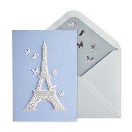 NIQUEA.D NIQUEA.D Laser Cut Eiffel Tower Happy Birthday Card