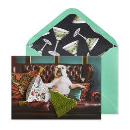 NIQUEA.D NIQUEA.D Dog on Couch Happy Birthday Card