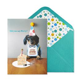NIQUEA.D NIQUEA.D Pup with Cake Happy Birthday Card