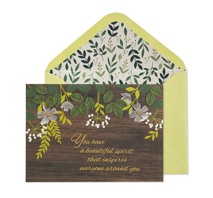 NIQUEA.D NIQUEA.D Natural and Floral Happy Birthday Card