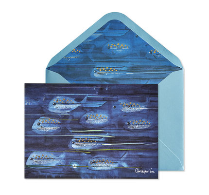 NIQUEA.D NIQUEA.D Blue Fishes Happy Birthday Card