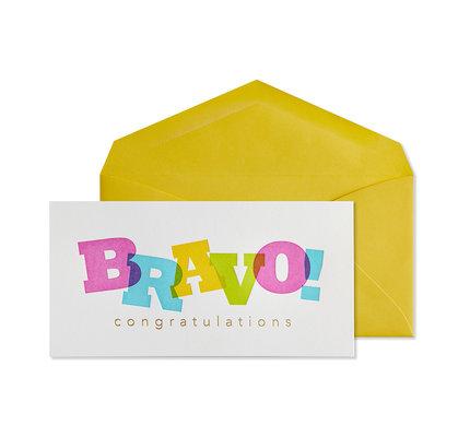 NIQUEA.D NIQUEA.D Bravo Layered Lettering Congratulations Card