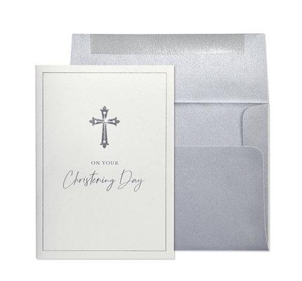 NIQUEA.D NIQUEA.D Silver Cross Christening Card