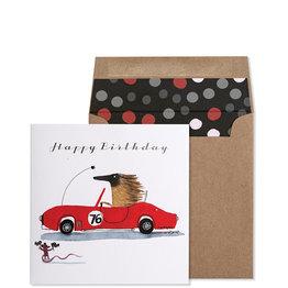 NIQUEA.D NIQUEA.D Race Car Happy Birthday Card
