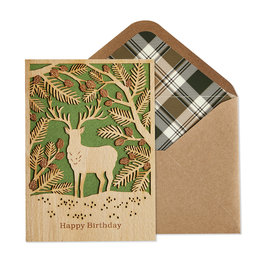 NIQUEA.D NIQUEA.D Wood Stag Happy Birthday Card