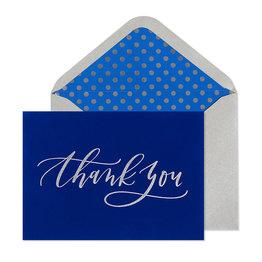 NIQUEA.D NIQUEA.D Blue Velvet Thank You Card