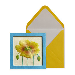 NIQUEA.D NIQUEA.D Yellow Embroidered Flower Get Well Card