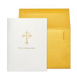 NIQUEA.D NIQUEA.D Gold Cross Sympathy Card