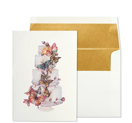 NIQUEA.D NIQUEA.D Butterfly Cake Wedding Card
