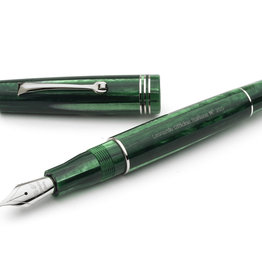 Leonardo Leonardo Momento Zero Fountain Pen Alga Seaweed Green Silver